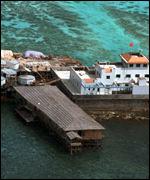 Chinesische Anlage auf dem Mischeef-Riff