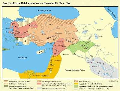 Das Hethitische Reich und seine Nachbarn im 13. Jhd. v.Chr.