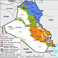 Irak und seine Bevölkerungsgruppen (Graphik: wikimedia.org)
