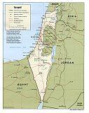 Karte Israel