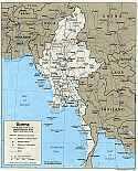 Karte Birma Burma Myanmar