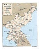 Karte Korea Nord North Volksrepublik Peoples Republic