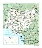 Karte Nigria Map