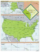 Karte USA Map