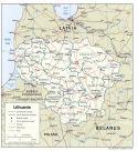 Karte Litauen Map lithuania