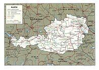 Karte Österreich Map Austria