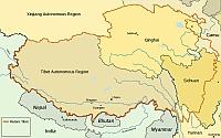 Karte Tibet