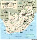 Karte Südafrika Map South Africa