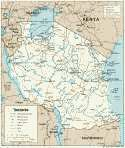 Karte Tansania Map Tanzania