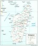 Karte Madasgakar Map Madagascar