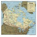 Karte Kanada Map Canada