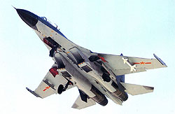 (Bildquelle: sinodefence ) J-11B fighter carrying Chinese PL-8 AAM