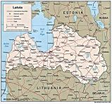Karte Lettland Map Latvia