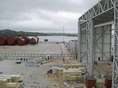 Marineforum - an Land sind nur Reaktorteile gelagert (Foto: Michael Schmidt)