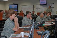 Tropical Storm Alex in the Joint Emergency Operations Center at Camp Mabry, Texas