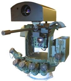 Portendo developmental sensor on BAE Systems Lemur turret