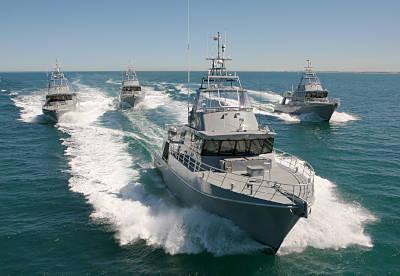 Marineforum - Fototermin für Austal-Boote (Foto: Austal)