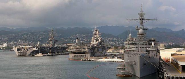 Marineforum - RIMPAC-Teilnehmer versammeln sich in Pearl Harbor (Foto: US Navy)