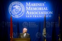 Defense Secretary Robert M. Gates speaks as part of the Marines' Memorial Association's George P. Shultz lecture series in San Fransisco, Aug. 12, 2010. DoD photo by Cherie Cullen
