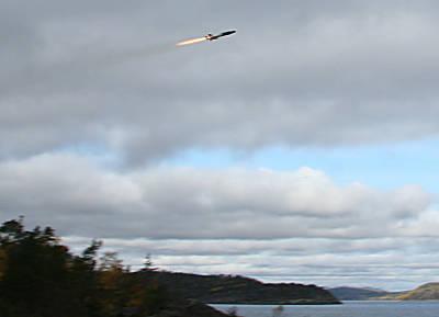 RBS-15 über Testgelände