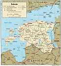 Karte Estland Map Estonia