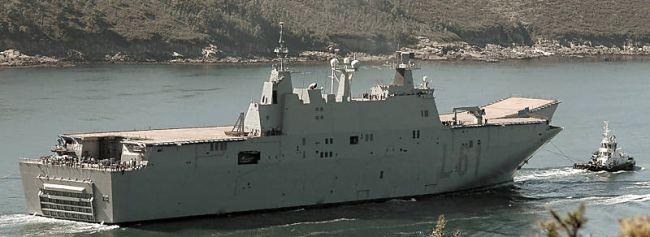 Marineforum - JUAN CARLOS I bei Erprobungen (Foto: Navantia)