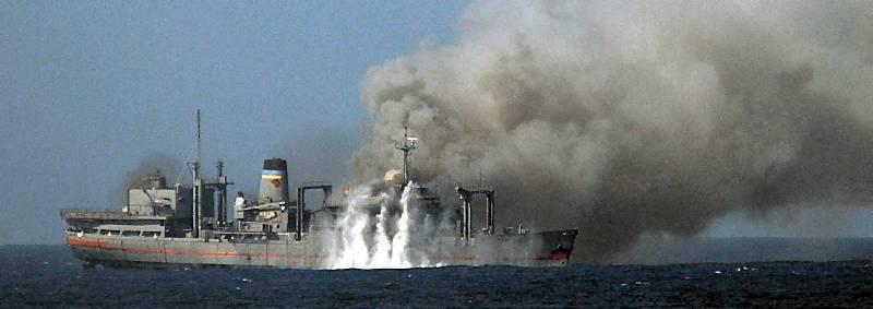 Marineforum - SATURN wird versenkt (Foto: US Navy)