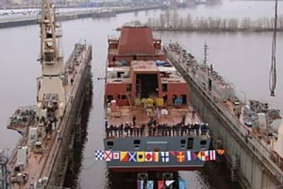 Marineforum - Stapellauf der GORSHKOV (Foto: russ. Fernsehen)