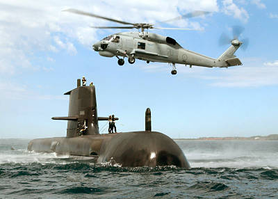 Marineforum - U-Boot der COLLINS-Klasse:  Nachfolge umstritten (Foto: austr. Marine)