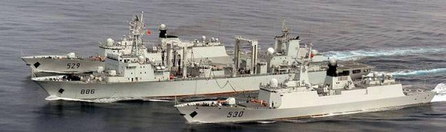 Marineforum - neue chinesische Einsatzgruppe auf dem Marsch (Foto: chin. Marine)