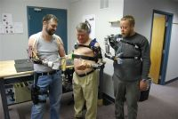 Users wear and control, without surgery, an advanced prosthetic arm developed under the Defense Advanced Research Projects Agency's Revolutionizing Prosthetics program in 2007. Courtesy photo