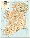 Karte Irland Map Ireland