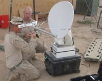 satellite dish for a morale satellite unit nicknamed the