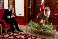Bahrain's King Hamad bIn Isa Al Khalifa in Manama, Bahrain
