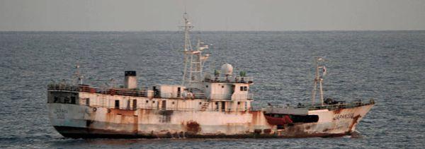 Marineforum - Mutmaßliches Mutterschiff (Foto: niederl. Marine)Foto