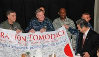 Army Lt. Gen. Burton Field, commander of U.S. Forces Japan, and U.S. Pacific Fleet Commander Navy Adm. Patrick Walsh