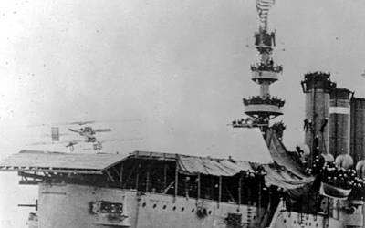 Erste Landung (Foto: US Navy)