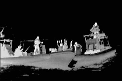 Marineforum - Nachtboarding (Wärmebild: niederl. Marine)
