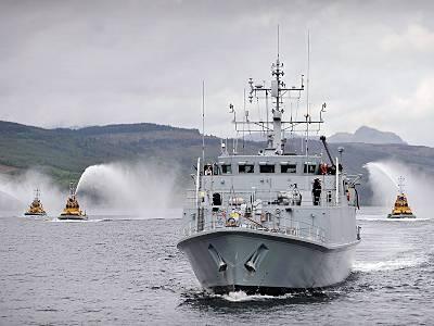 Marineforum - RAMSEY wird verabschiedet (Foto: Royal Navy)
