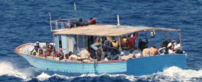 Marineforum - Flüchtlingsboot (Foto: rum. Marine)