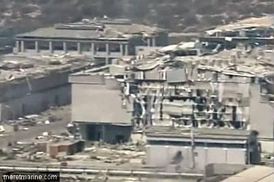 Marineforum - Stützpunkt nach der Explosion (Foto: meretmarine.com)