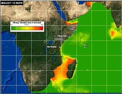 Marineforum - Bedrohung durch Piraten (Karte: US Navy)Karte