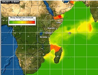 Marineforum - Piracy Threat Level Forecast (Grafik: US Navy)
