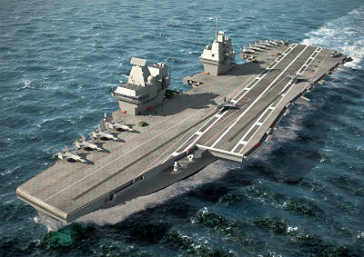 Marineforum - QUEEN ELIZABETH - neues Design (Grafik: BAe Systems)Design