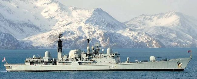 Marineforum - EDINBURGH im Südwinter-Einsatz (Foto: Royal Navy)
