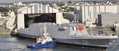 Marineforum - Stapellauf der MOHAMMAD VI (Foto: DCNS)Foto