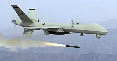 Marineforum - MQ-9 Reaper schießt Hellfire (Foto: US Air Force)