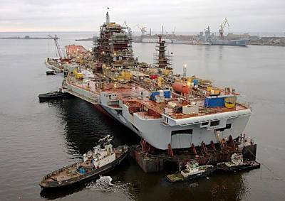 Marineforum - Ex-GORSHKOV bei Mooring Tests (Foto: Sevmash)