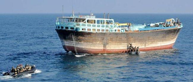Marineforum - Boardingteams der INFANTA CRISTINA an der Dhau (Foto: span. Marine)