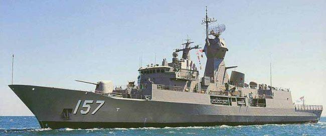 Marineforum - Die 'neue' PERTH  mit APAR-Mast (Foto: austr. Marine)